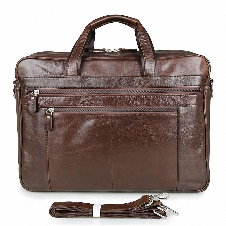 Genuine Leather Business Handbag Shoulder Bag For Men