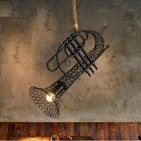 Sachs Лофт Стиль пеньковая веревка Утюг светодиодный Открытый Подвесные Светильники приспособления для бар Обеденная подвесной светильник В
