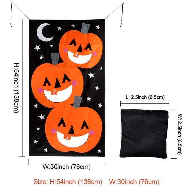 Fabulous Us 10 69 30 Off Ourwarm Halloween Party Hanging Pumpkin Bean Bag Toss Game Gift For Kids Black And Orange Bean Bags For Throwing In Party Diy Onthecornerstone Fun Painted Chair Ideas Images Onthecornerstoneorg