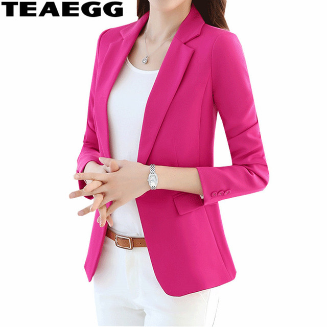 bajo costo lo último gran descuento US $39.44 44% OFF|TEAEGG Casual Office Women Short Blazers Mujer Plus Size  5XL 2019 New Spring Autumn Women's Jackets Of Large Sizes Blazer AL674-in  ...
