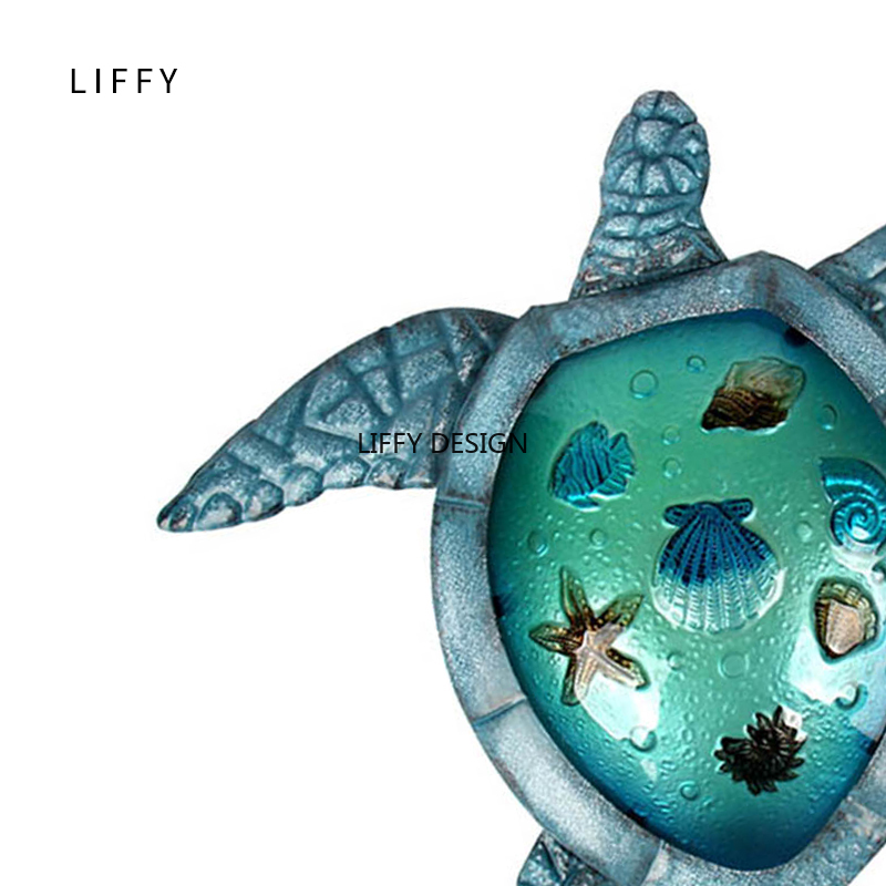 Image 5 - Liffy Turtle Metal Glass Wall Art for Outdoor Decoration Garden Ornaments and Home Gardening Statues  for Yard Decoration-in Garden Statues & Sculptures from Home & Garden