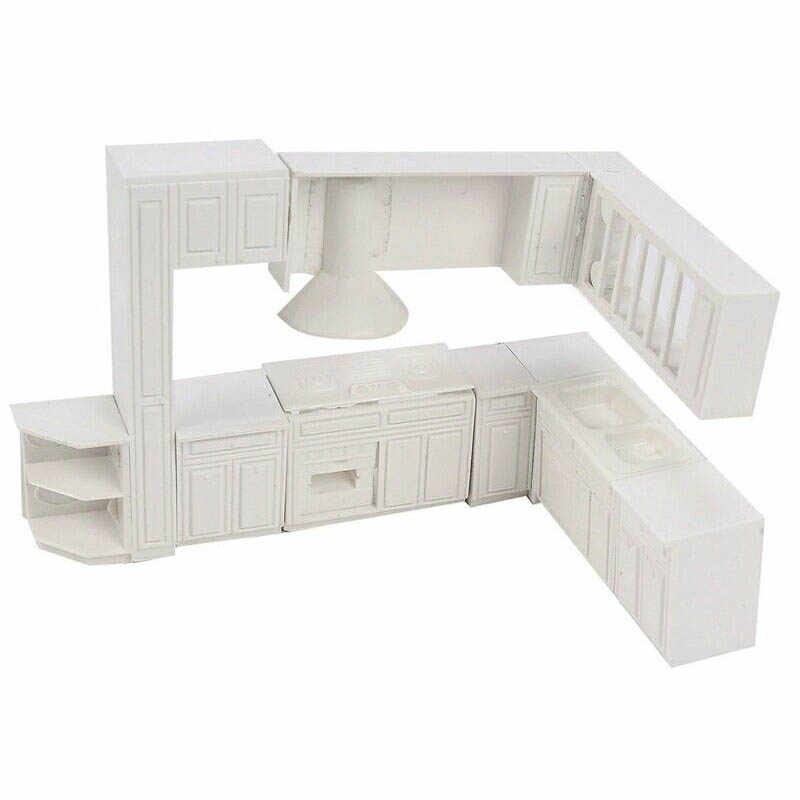 Doll house Miniature toy house cabinet kitchen furniture molds home decor kit