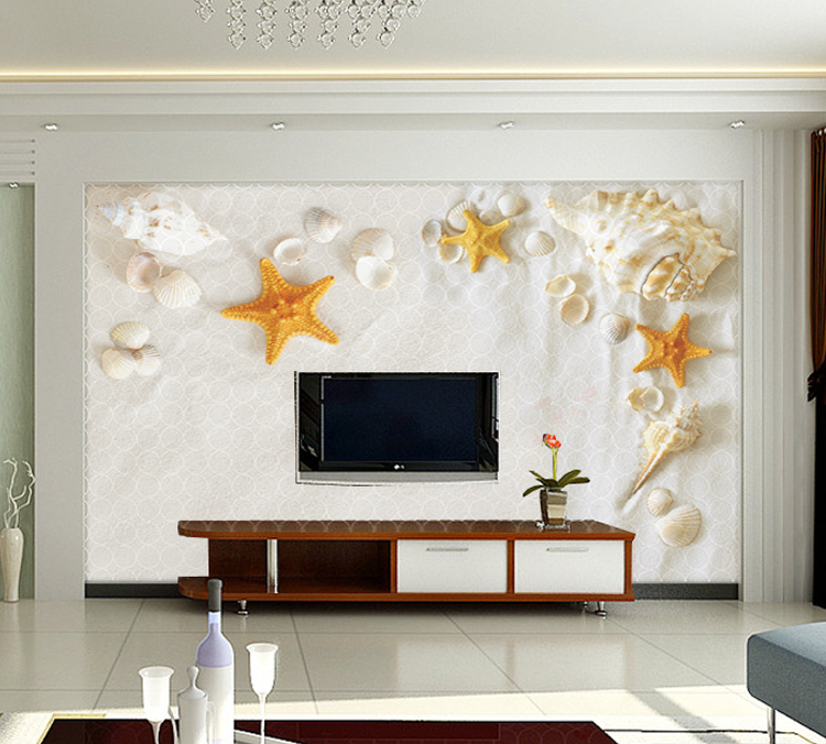 Aliexpress.com : Buy 3D Photo Wallpaper Shells And Starfish Living Room TV  Wall Wallpaper 3d Backdrop Wallpaper Wall Mural Wall Paper From Reliable  Backdrop ... Part 29