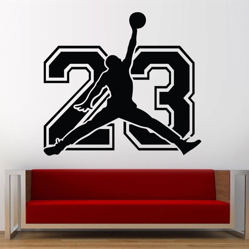 Asapfor michael jordan basketball player stickers decorative vinyl to walls decor for kids rooms wallpaper new