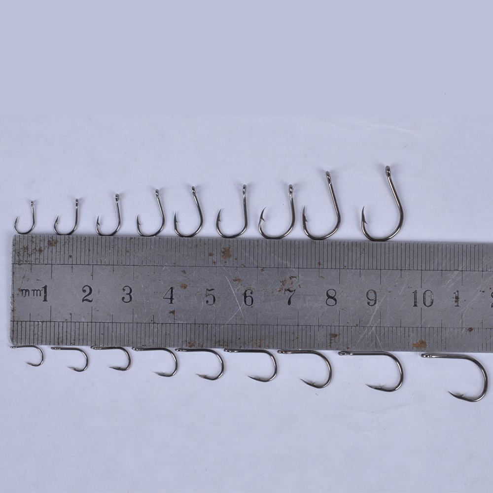 Jig head picture more detailed picture about lixada for Fly fishing hook sizes