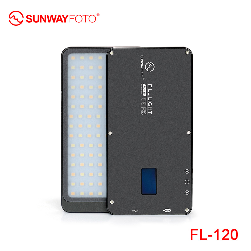 SUNWAYFOTO FL 120 LED Video light Photo lighting On Olympu Pentax DV camera hotshoe Dimmable LED