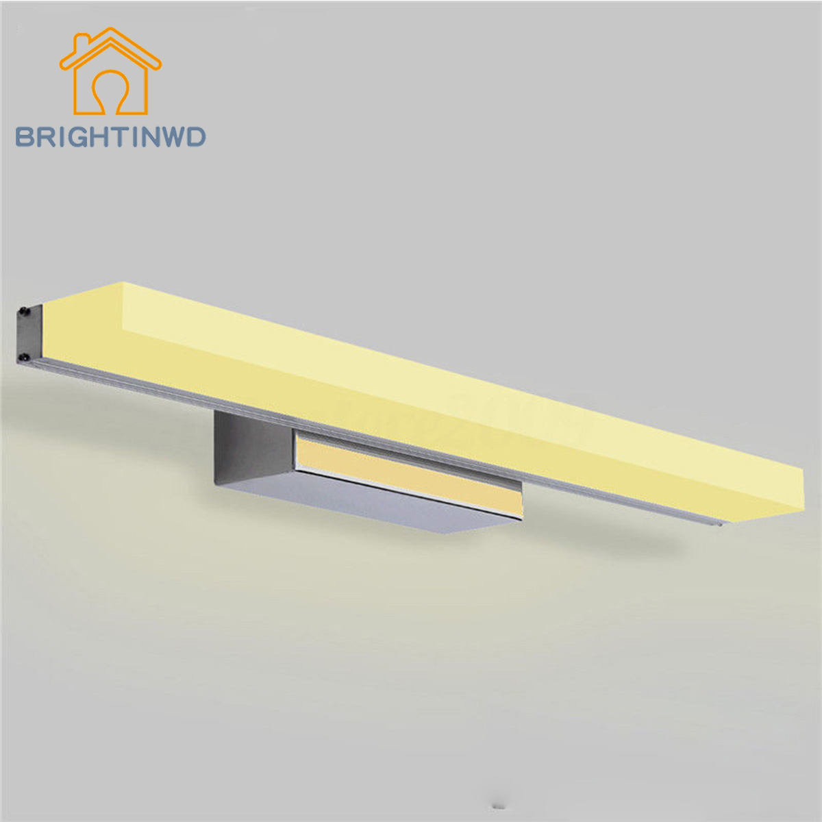 BRIGHTINWD Modern Bathroom Toilet Vanity Wall Makeup Light Mirror Front LED Lamp Waterproof декор lord vanity quinta mirabilia grigio 20x56