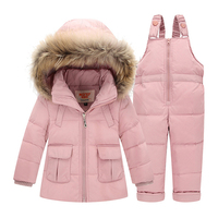 BEKE MATA Baby Snowsuit Winter 2018 New Solid Kids Coats Girls Thick Down Jackets For Boys Coat+Pants Toddler Girl Clothing Sets