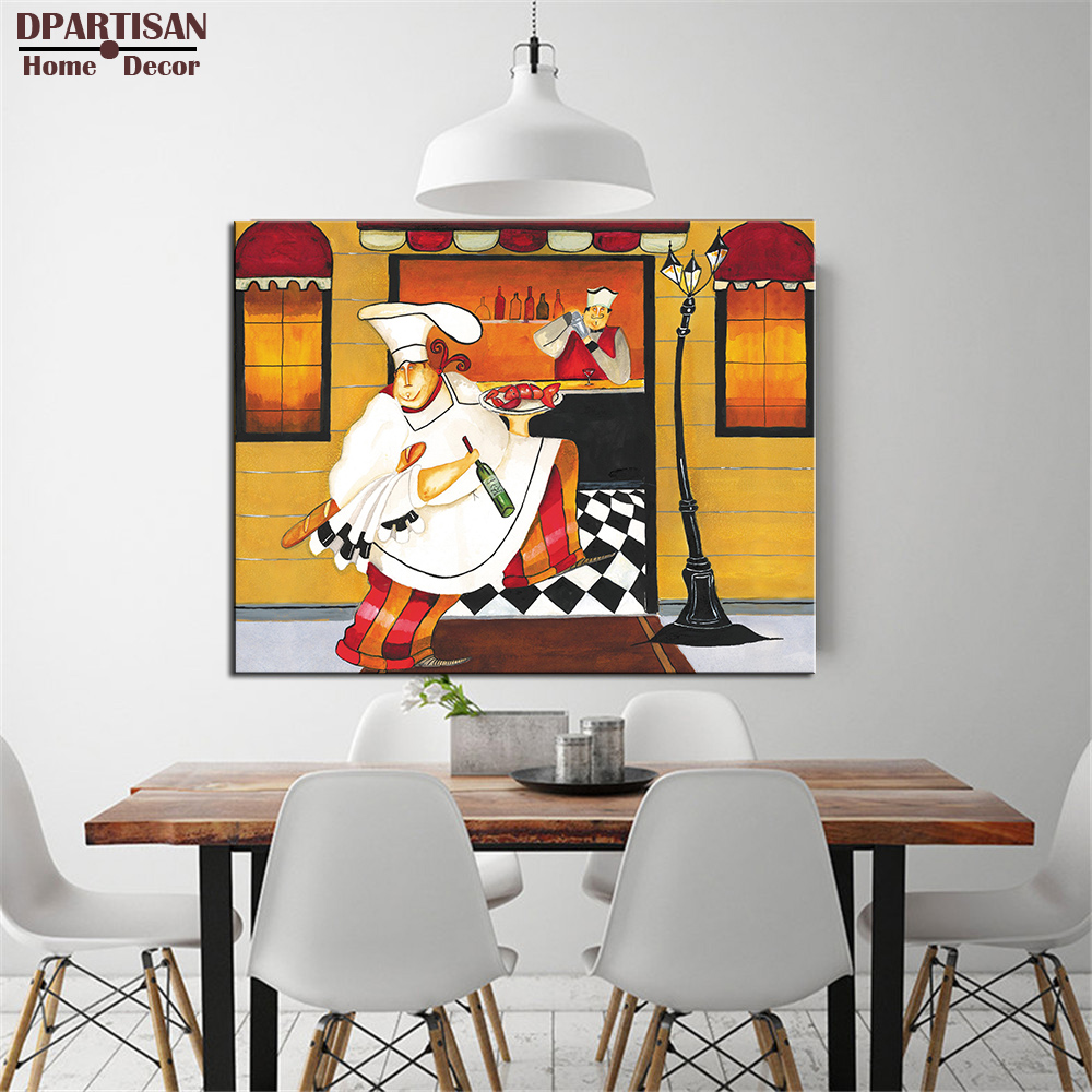 DPARTISAN The best sales famous Kitchen-3 I Art Print by poster painting print on canvas for store and home decoration arts