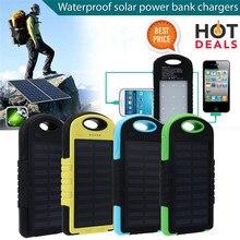 10000mAh Portable Waterproof Solar Charger Dual USB External Battery Power Bank
