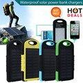 8000 mAh Cargador Solar Dual USB Power Bank Batería Externa Portátil A Prueba de agua