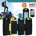8000 mAh Portátil Carregador Solar À Prova D' Água Dupla USB Banco do Poder De Bateria Externa