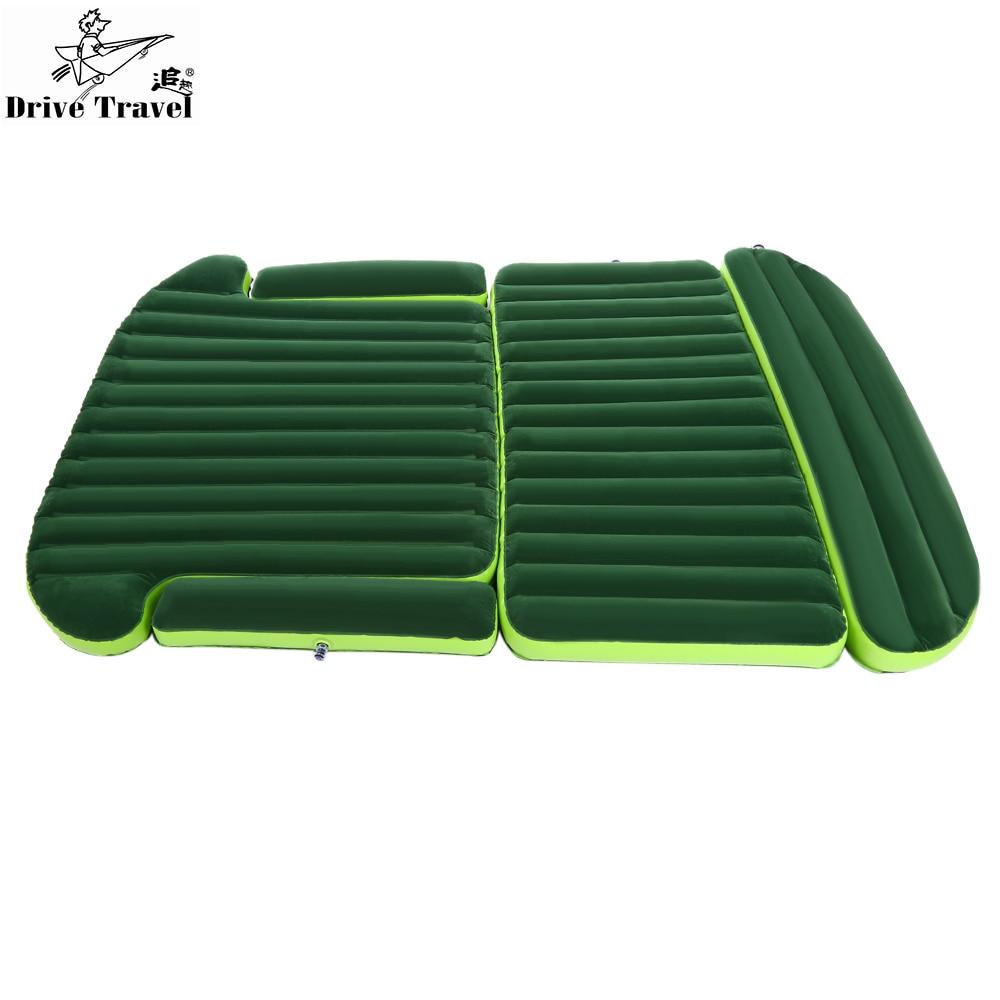 Drive Travel Deflatable <font><b>Air</b></font> Inflation Bed Mattress SUV Camping PVC Material Car Seat Cover Cushion With Car Electric <font><b>Air</b></font> Pump
