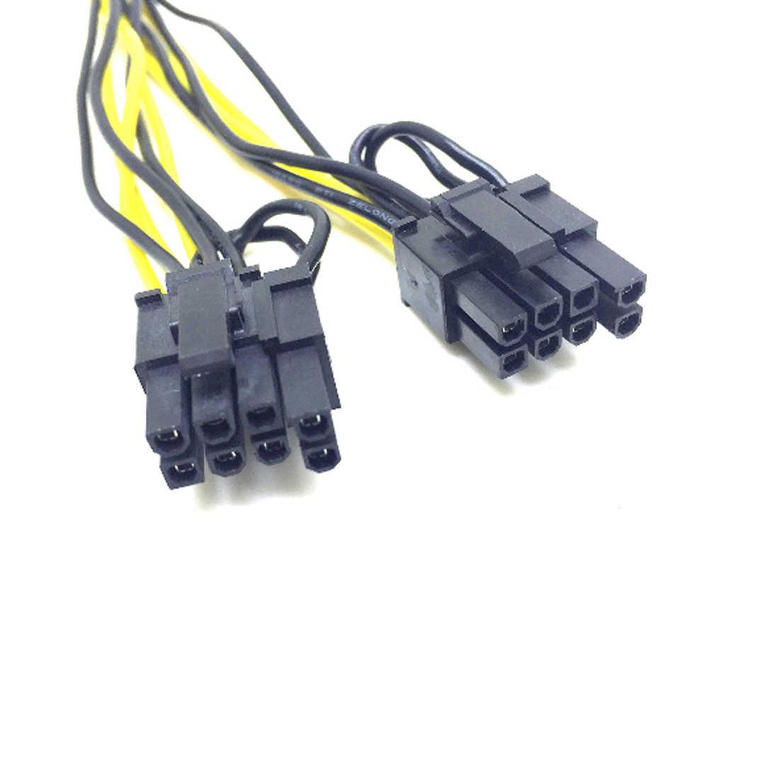 Marsnaska 6 دبوس PCI express ل 2 x بكيي 8 (6 + 2) دبوس اللوحة الرسومات فيديو بطاقة PCI-e GPU VGA الخائن Hub الطاقة كابل