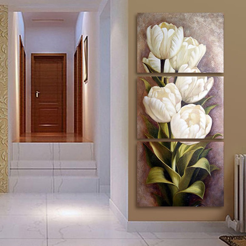 3-Piece-Oil-painting-Living-Room-Modern-Wall-Painting-Flower-Decorative-Wall-Art-Painting-Pictures-Print