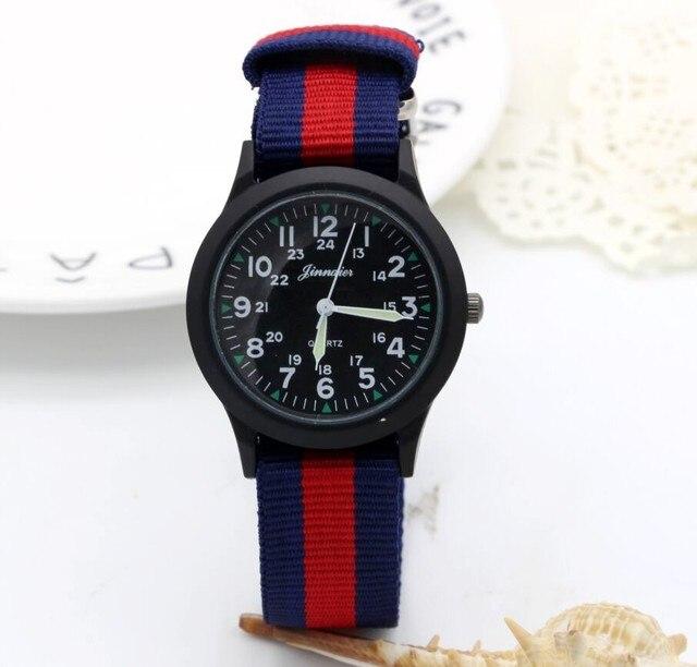 5d73ae31a16 New chegou esportes menino moda colorido nylon ocasional dom relógio  criança crianças ponteiro Luminoso relógio de