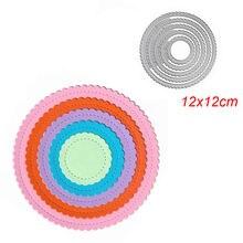 5 шт металлический трафарет круглой формы для «сделай сам» скрапбукинга