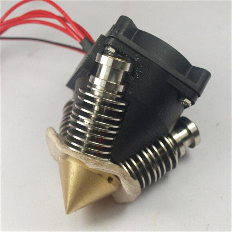 ФОТО 3D printer Parts, Triple inputs diamond hotend nozzle full kit 1.75 mm 0.4 mm for multi color 3D printing