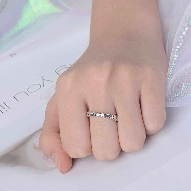 Индивидуальные винтажные 925 Пробы Кольца С Серебряной звездой для женщин, модные ретро античные кольца, свадебные ювелирные изделия Anillos