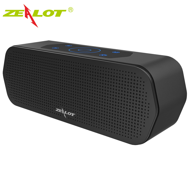 ZEALOT Bluetooth Speakers Wireless Touch Control Subwoofer 3D Stereo Sound System TF Card MP3 Play With Mic For iPhone&Samsung
