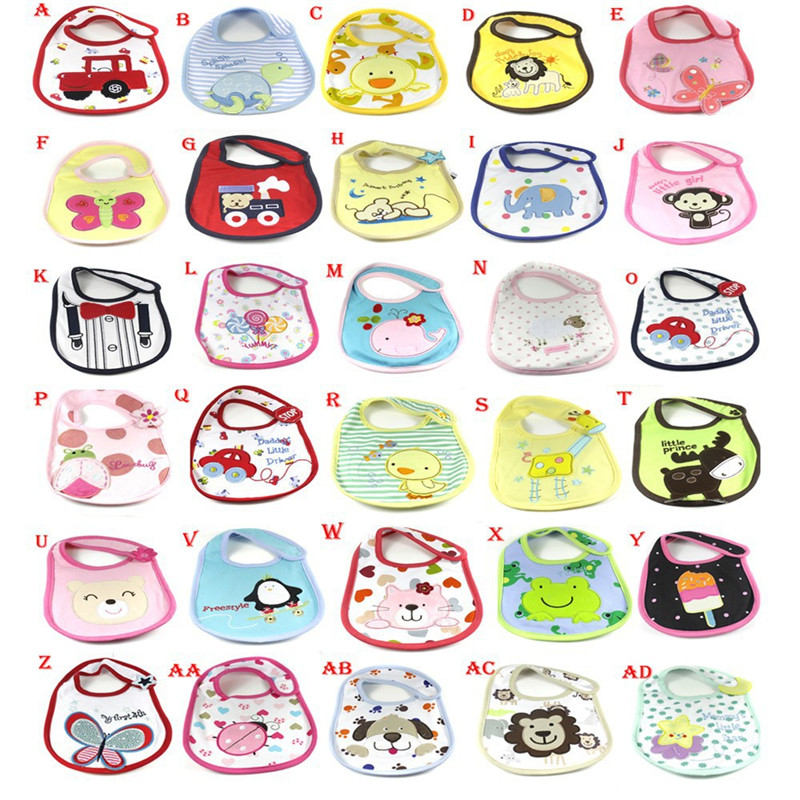 Newborn Baby Towel Saliva Waterproof Kids Cartoon Pattern 3 Layer Toddler Lunch Bibs Burp Clothes
