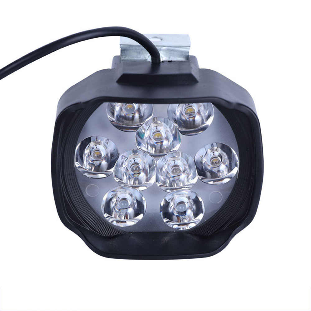 E Bike LED Light 24V 36V 48V 60V 72V 15W electric bike headlight Waterproof for Electric bicycle motorcycles front Light