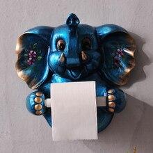 3D Papier handtuchhalter toilettenpapier papierhalter toilettenpapier box regale bad wand hängen resin Elephant papier handtuch rahmen