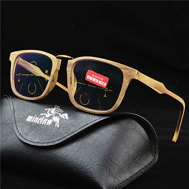 Marque de haute qualité en bois près et de loin multifocale lunettes hommes  et femmes intelligent 80d974809c7c