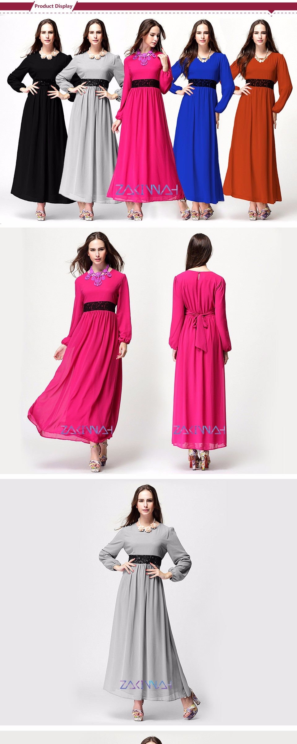 Fashion muslim abaya dress