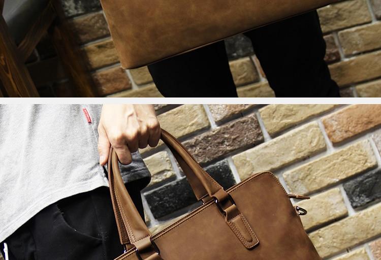HTB1 hKXi2JNTKJjSspoq6A6mpXaw Brand Crazy horse pu leather men bags vintage business leather briefcase men's Briefcase men travel bags tote laptop bag man bag