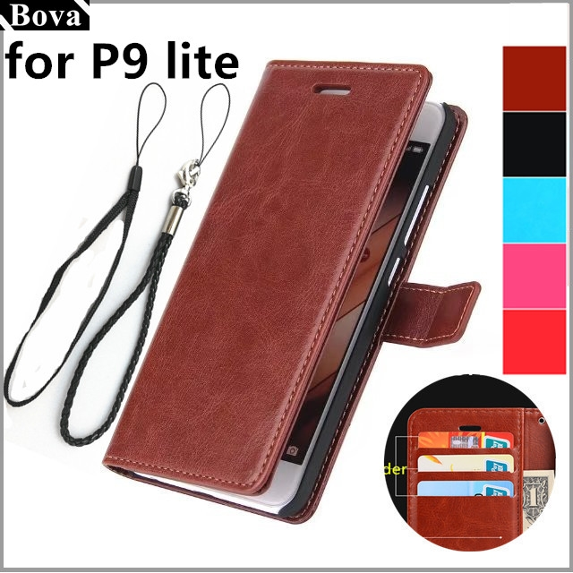 for Fundas Huawei P9 Lite Flip Cover card holder cover case for Huawei Ascend P9 Lite leather case wallet Holster phone bags