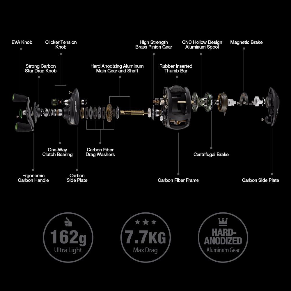 7.0:1 162g Phantom Carbon 12