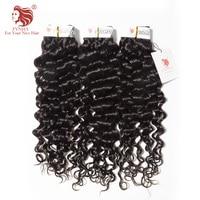 [FYNHA]3Bundles Peruvian Virgin Hair Bouncy Curly Weave Human Hair Natural Black Extensions Italian Curl