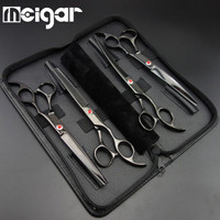 Professional Pet Dog Hair Grooming Clippers Scissors Shears Kit Hair Cutting Shears Hairdressing Beauty Tool Supplies 7 Inch