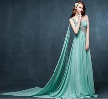 2015 In Stock Real Pitures Elegant Bridesmaid Dresses One Shoulder Lace Up Crystals Chiffon A Line Floor-Length Custom Made