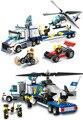 Kits de edificio modelo compatible con lego city police Helicopter transporte 3D modelo de bloques de construcción juguetes y pasatiempos para niños