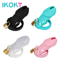 IKOKY Chastity Lock Sex Toys for Men Penis Rings CB6000S Cock Rings Male Chastity Device Cock Cage with 5 Rings Adult Products
