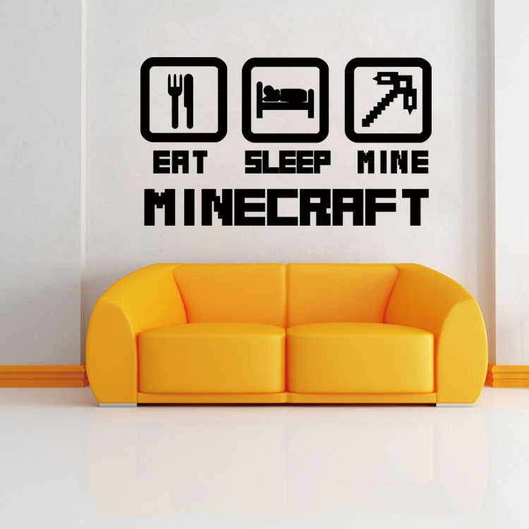 Special Home Decoration EAT SLEEP MINE Wall Sticker Removable Vinyl ...