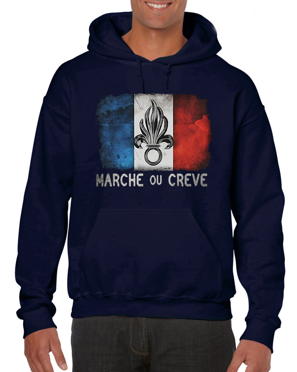 Male Harajuku Fitness Brand Clothing Foreign Legion France Cult Gift Desert Weapon Army Hoodies Sweatshirts