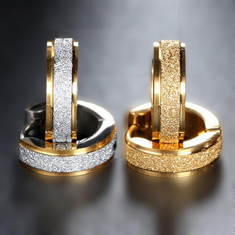 Stainless Steel Stud Earrings For Women Men Minimalist Jewelry Brincos 2018 Luxury Jewellery Gold Color Cubic Zirconia Earrings