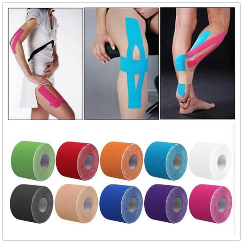 2Size Tape Athletic Tape Sport Recovery Tape Strapping Gym Fitness Tennis Running Knee Muscle Protector Accessories cinta kinesiologica
