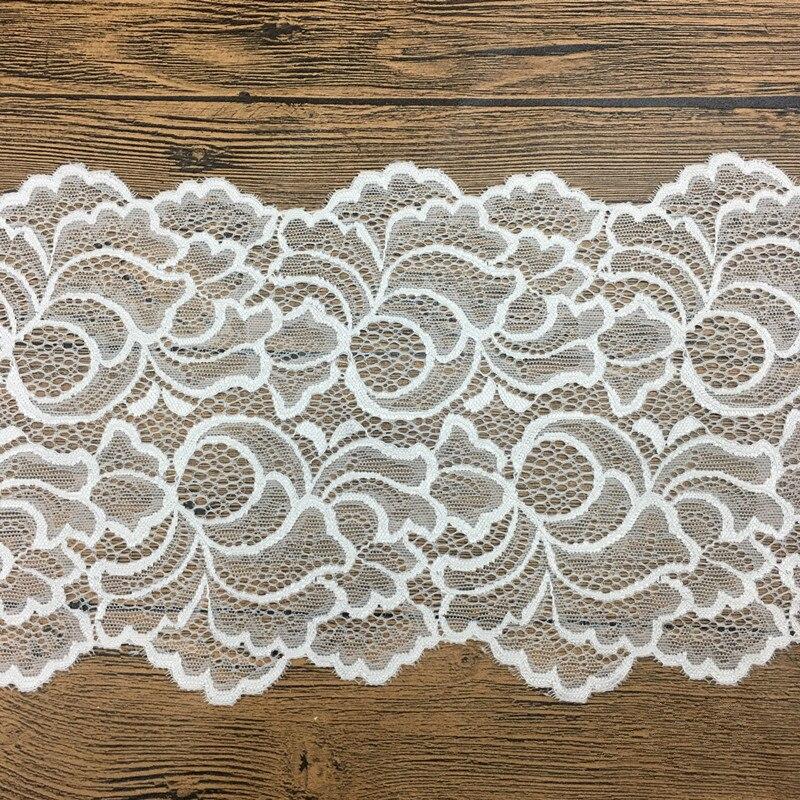 Эластичная кружевная ткань для рукоделия, 1 ярд, ширина 18 см, 2 цвета, Швейные аксессуары для украшения одежды, эластичная кружевная отделка