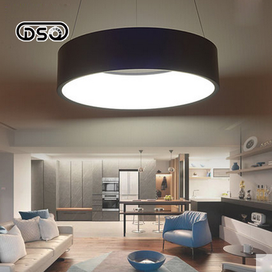 DSQ LED Restaurant Chandelier Creative Simple Modern Style Personality Bedroom Iron Lamps цена и фото