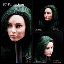 1/6 Beauty Girl Head Sculpt with Planted Hair HSD001 Emma Dumont Europe Carved Model for 12 Action Figure Body
