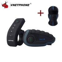 VNETPHONE V8 1200 M Bluetooth NFC Pilot Full Duplex Interkom Motocyklowy Kask Domofon Słuchawkowy + FM W Tym Jednym Maska