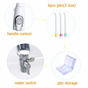 Image 2 - Faucet Water Dental Flosser 6pcs Nozzle Switch Jet Floss Toothbrush Irrigation SPA Teeth Tooth Cleaning