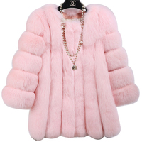 2016 Hot Sale Winter Coat Women Thicken Warm Faux Fur Coat Plus Size Long Fox Fur
