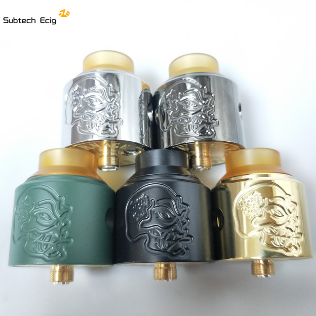 US $12 59 10% OFF|Newest Skull RDA Atomizers With PEI POM Wide Bore Drip  Tip 28mm diameter Fit 510 E Cigarette Vaporizer Mech mods free shipping-in