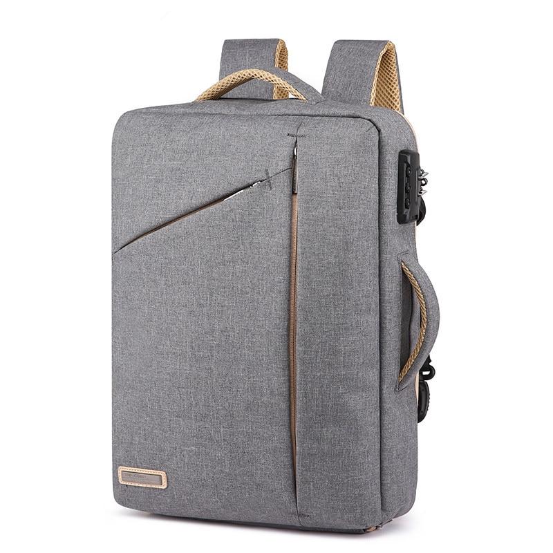 Men Anti Theft Password Lock Backpack Business School 15.6 Inch Laptop Backpacks Waterproof Bags Boy Travel Message Bagpack Male