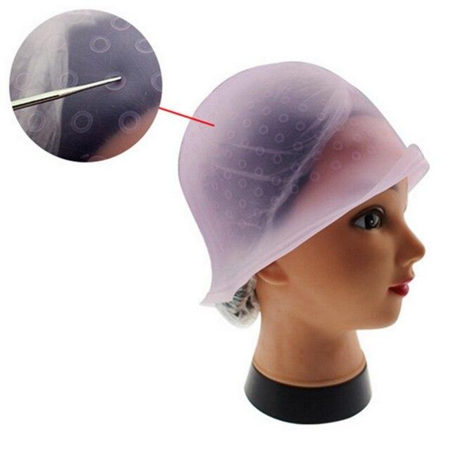 rutilisable silicone salon cheveux coloration mise en vidence dye cap avec glaage tipping cheveux couleur chapeau - Coloration Rutilisable